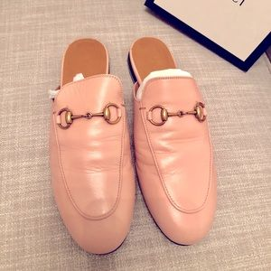Gucci princetown slippers PINK